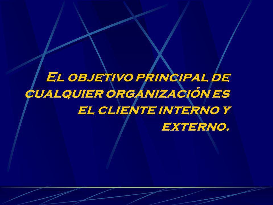 El objetivo principal de cualquier organización es el cliente interno y externo.