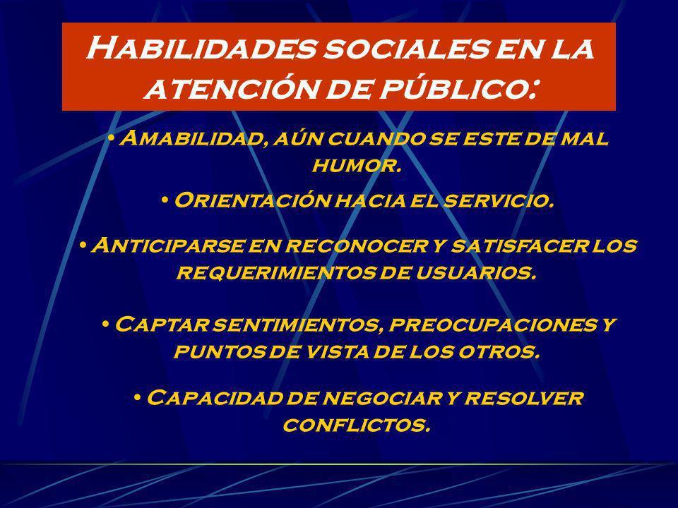 Habilidades sociales en la atención de público: