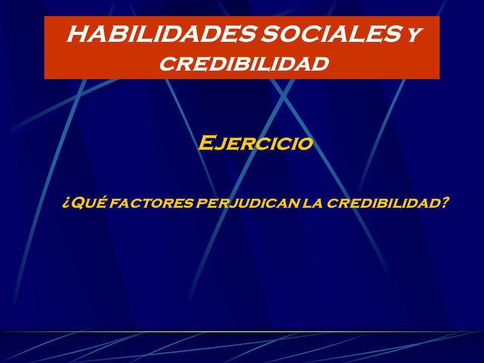 HABILIDADES SOCIALES y credibilidad
