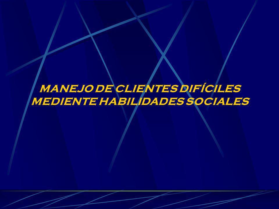 MANEJO DE CLIENTES DIFÍCILES MEDIENTE HABILIDADES SOCIALES