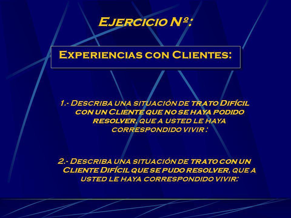 Experiencias con Clientes: