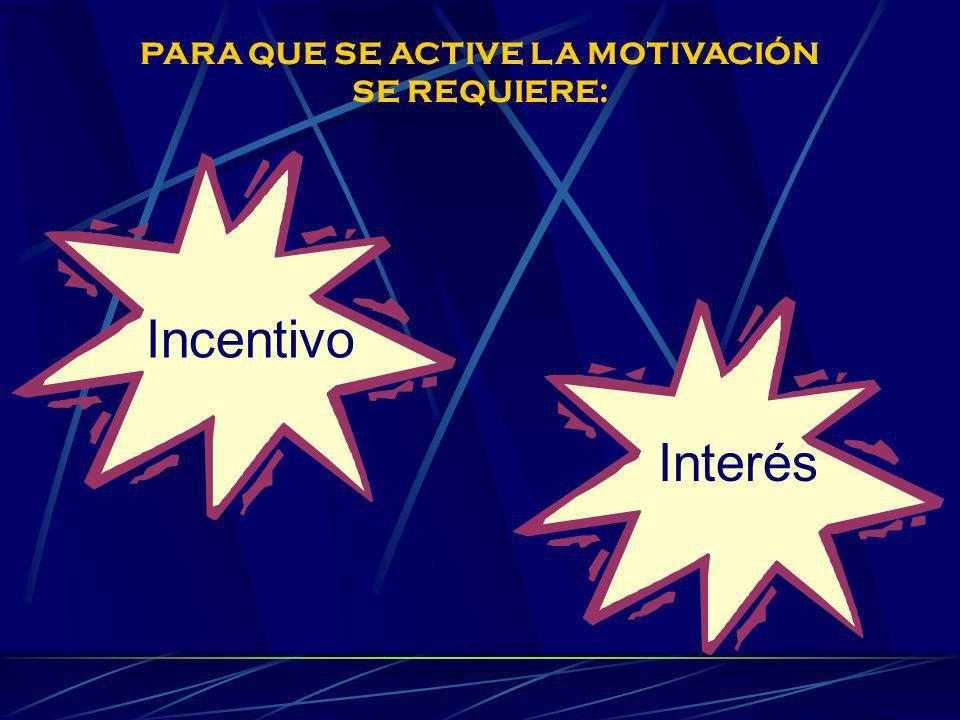 PARA QUE SE ACTIVE LA MOTIVACIÓN