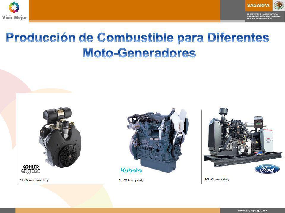 Producción de Combustible para Diferentes