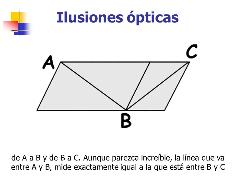 Ilusiones ópticas de A a B y de B a C.