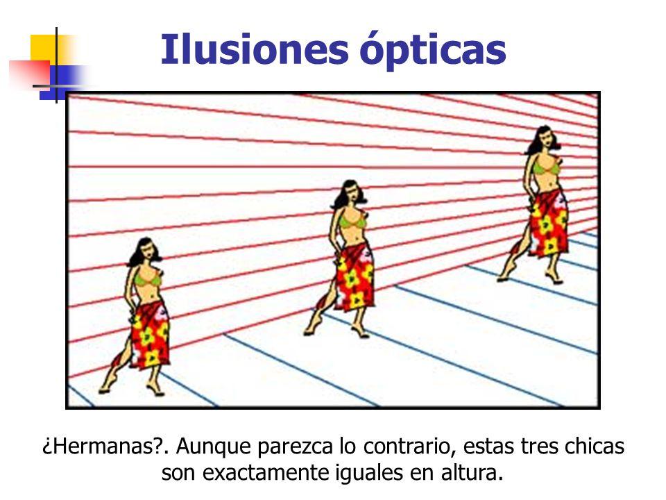 Ilusiones ópticas ¿Hermanas .
