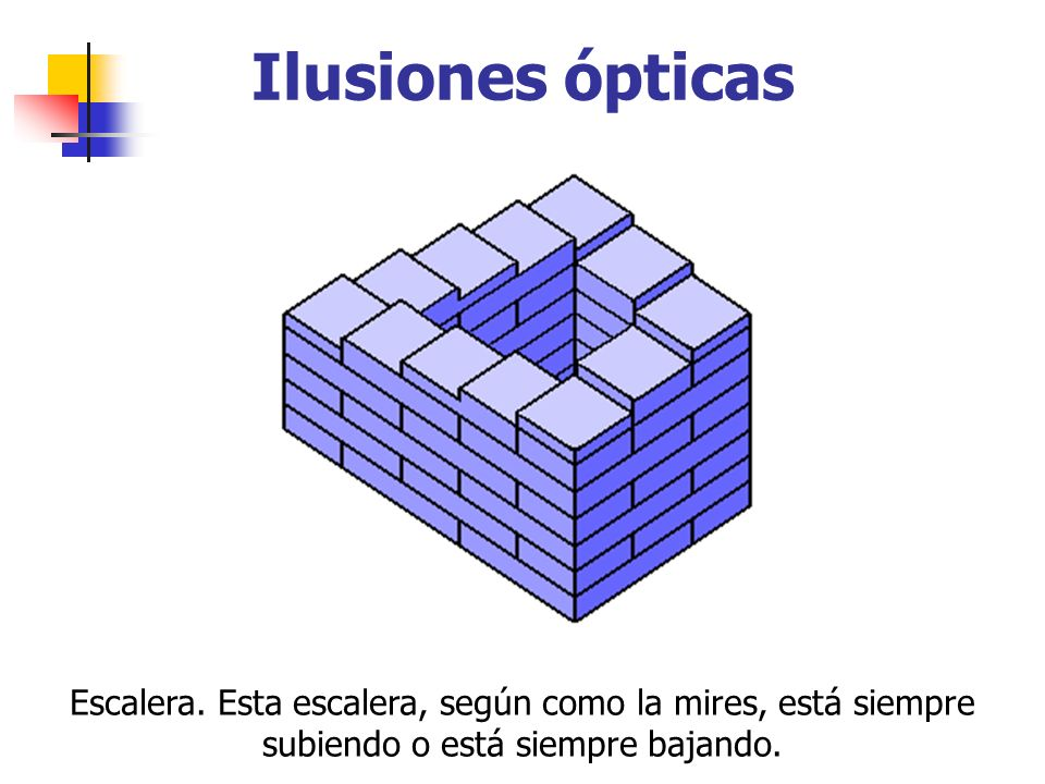 Ilusiones ópticas Escalera.