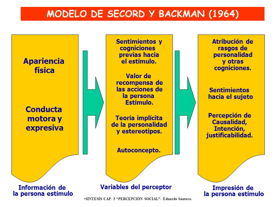 MODELO DE SECORD Y BACKMAN (1964)