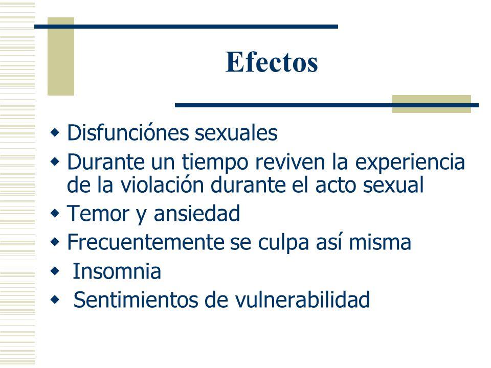 Efectos Disfunciónes sexuales