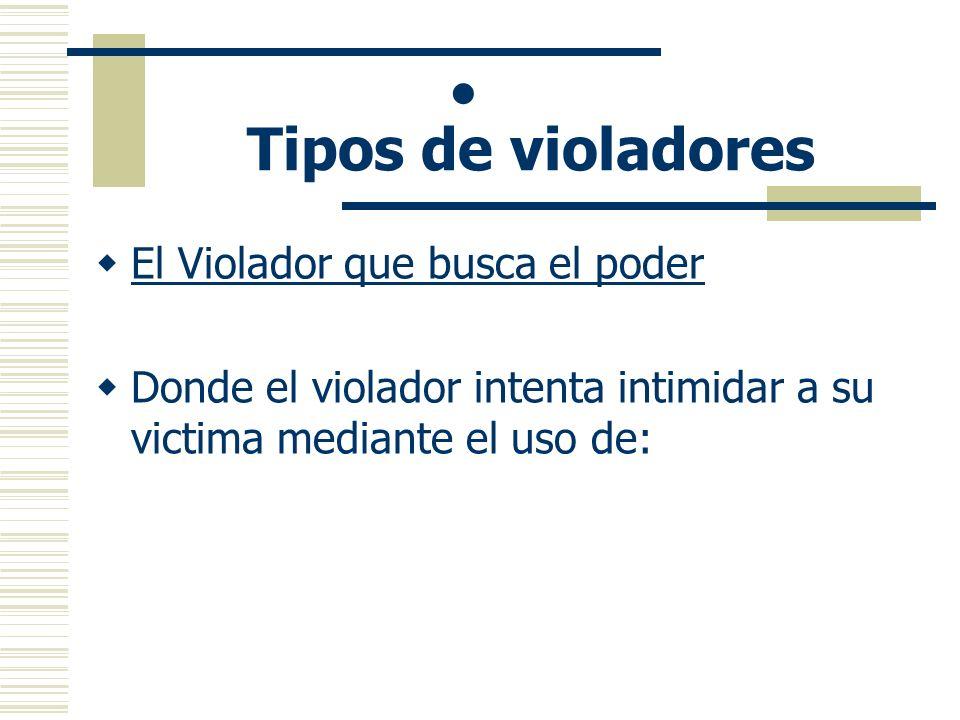 · Tipos de violadores El Violador que busca el poder