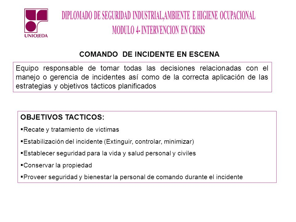 COMANDO DE INCIDENTE EN ESCENA