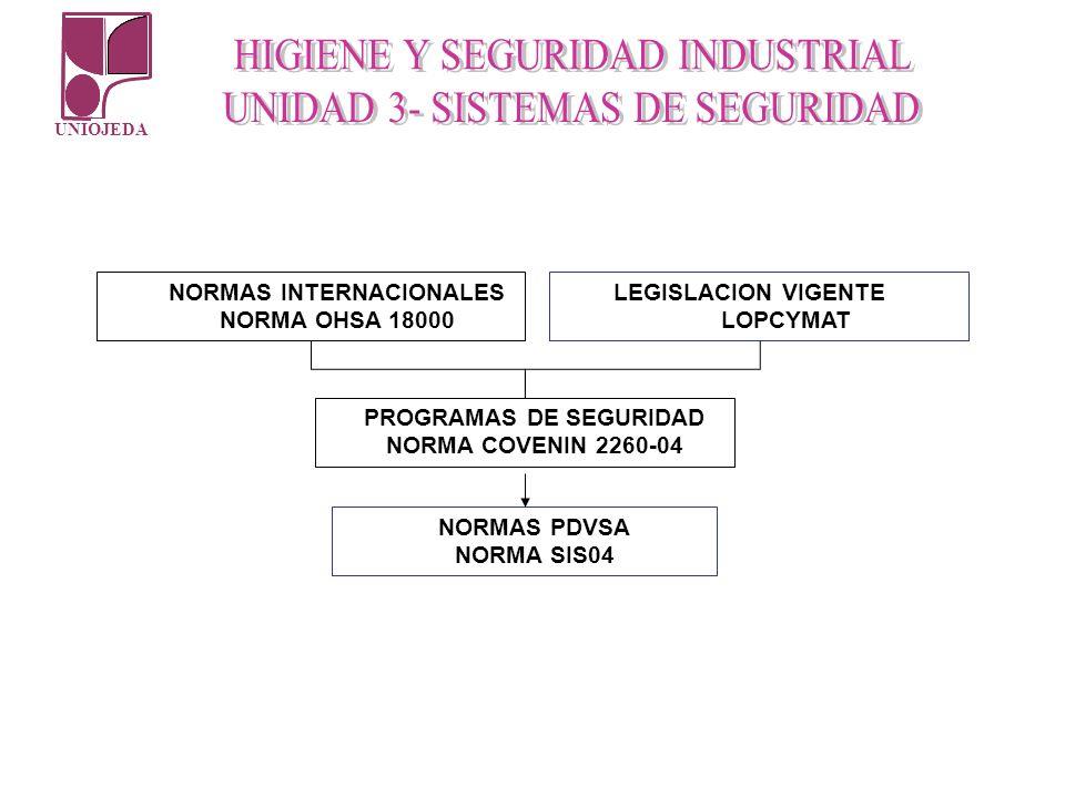 NORMAS INTERNACIONALES PROGRAMAS DE SEGURIDAD