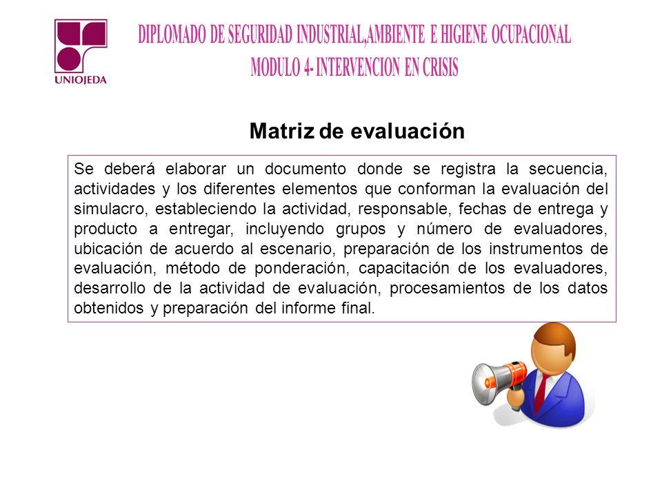 Matriz de evaluación