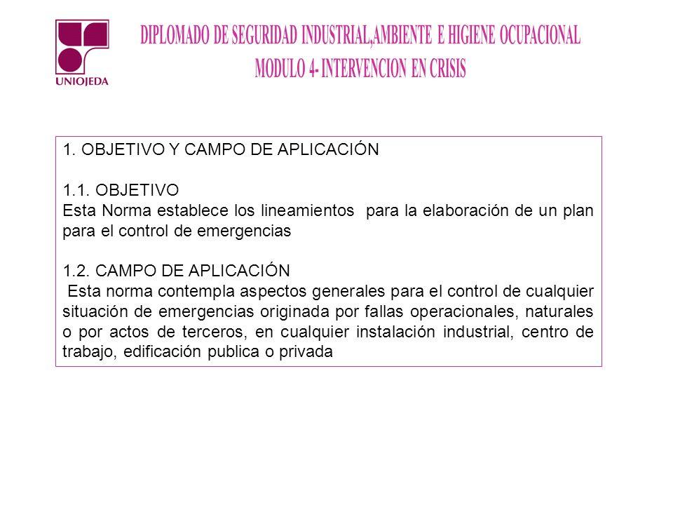 1. OBJETIVO Y CAMPO DE APLICACIÓN