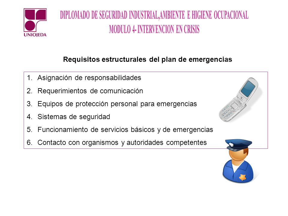 Requisitos estructurales del plan de emergencias