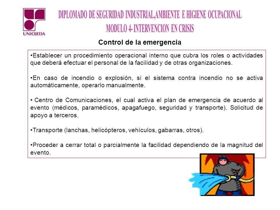 Control de la emergencia
