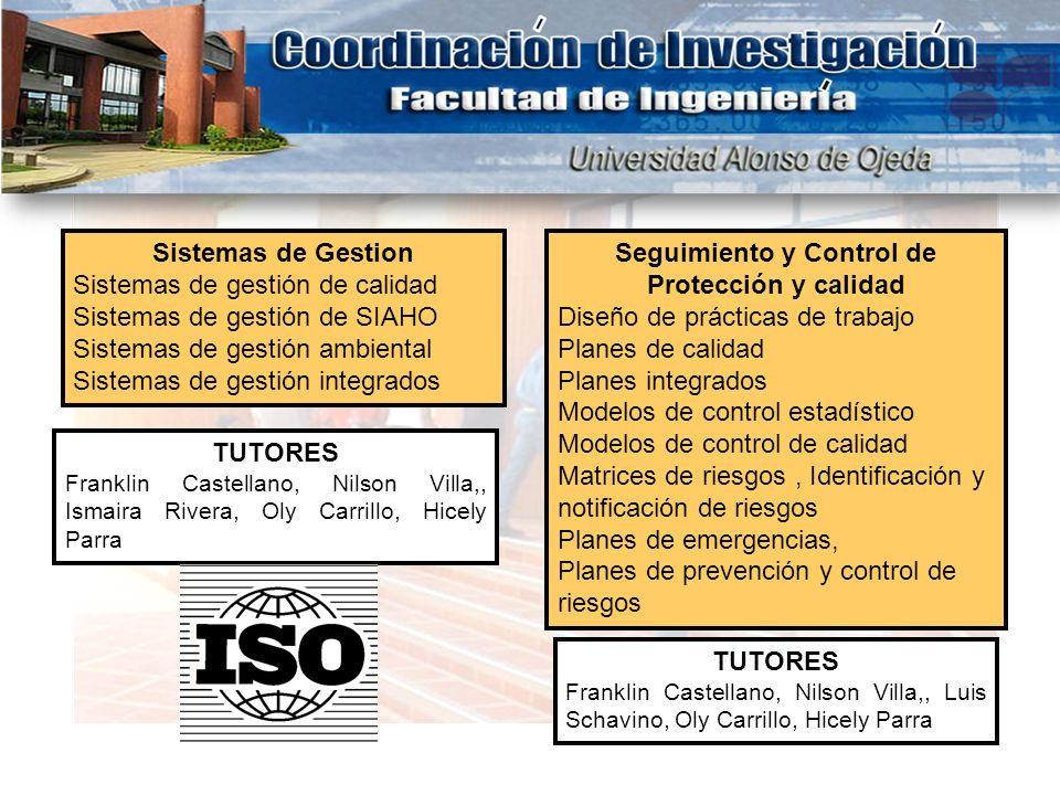 Seguimiento y Control de Protección y calidad