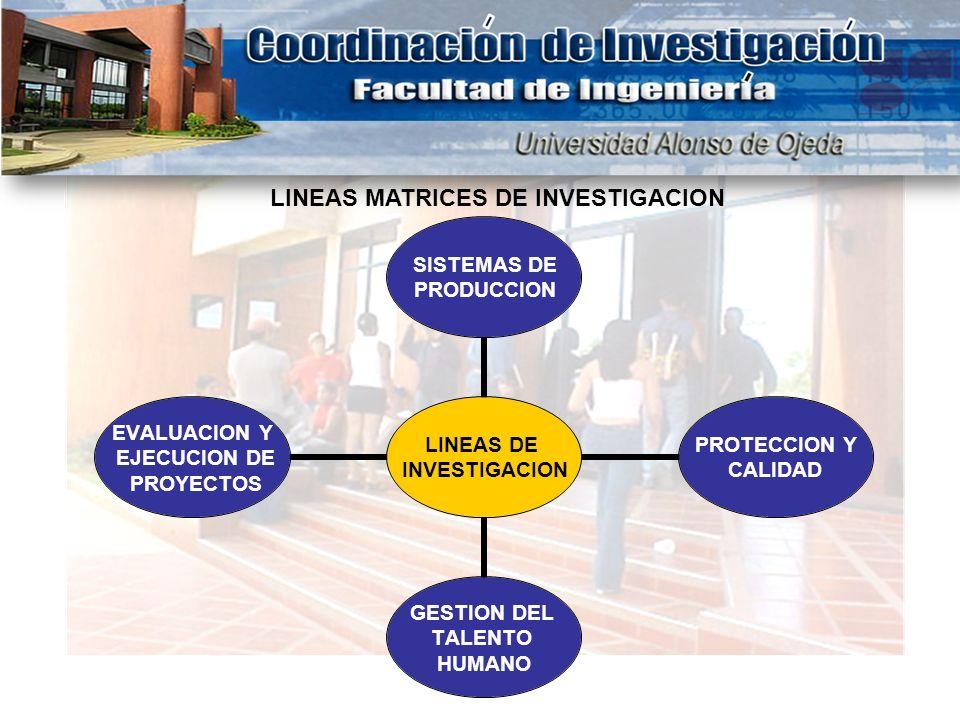 LINEAS MATRICES DE INVESTIGACION