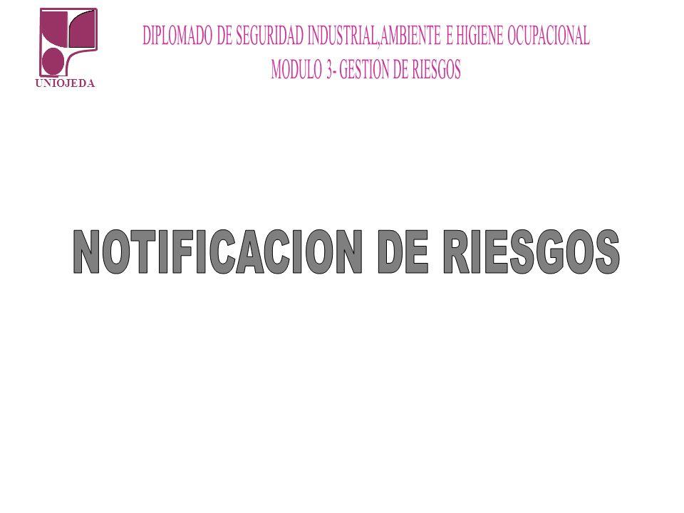 NOTIFICACION DE RIESGOS