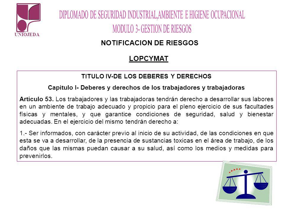 NOTIFICACION DE RIESGOS LOPCYMAT