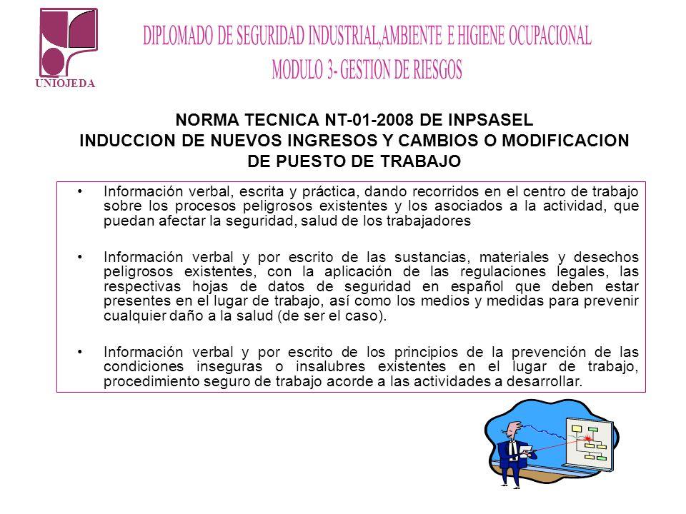 NORMA TECNICA NT-01-2008 DE INPSASEL