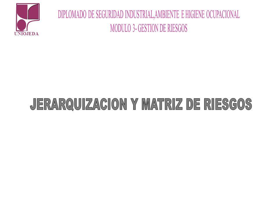 JERARQUIZACION Y MATRIZ DE RIESGOS