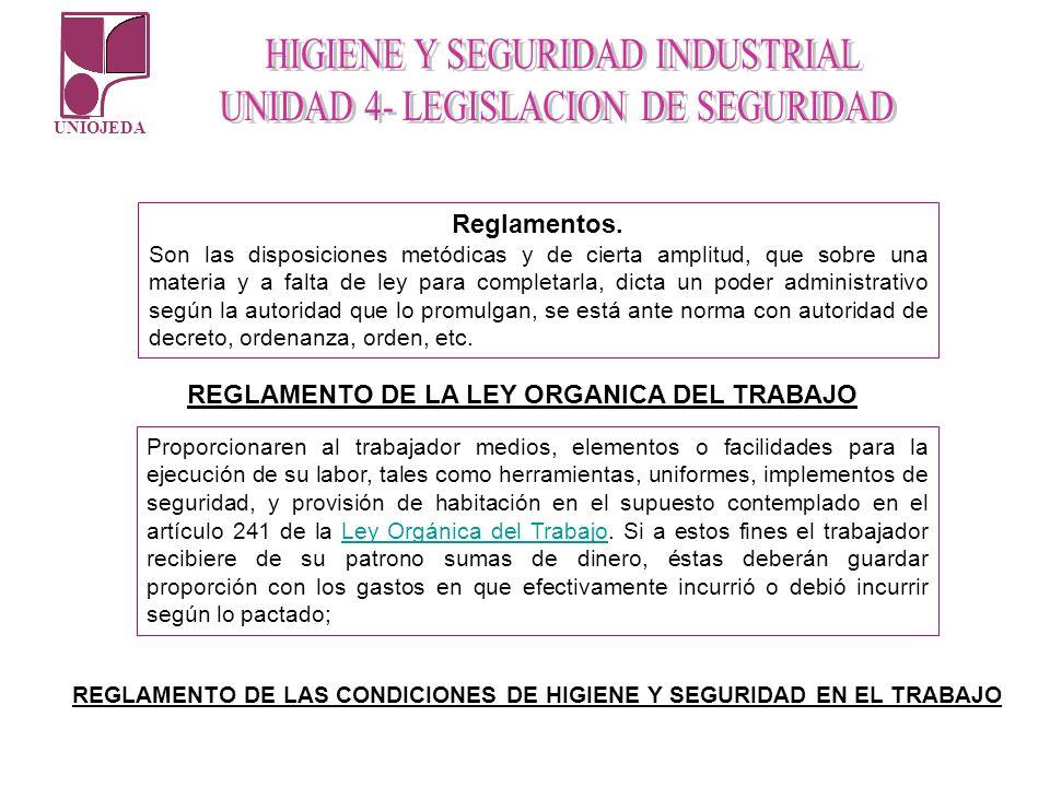 REGLAMENTO DE LA LEY ORGANICA DEL TRABAJO