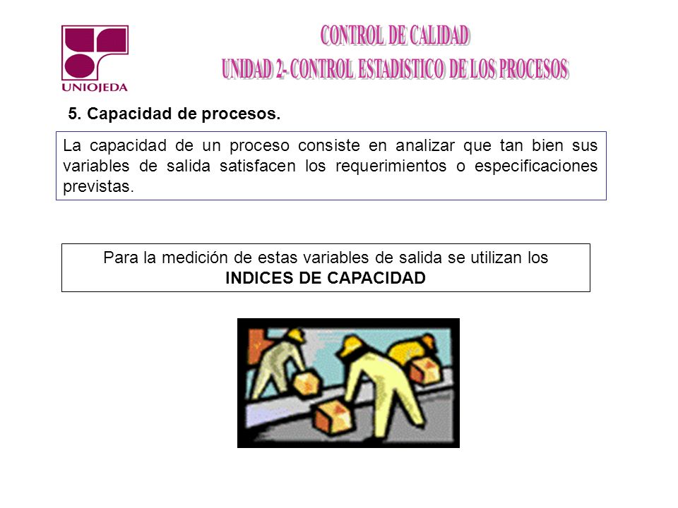 5. Capacidad de procesos.