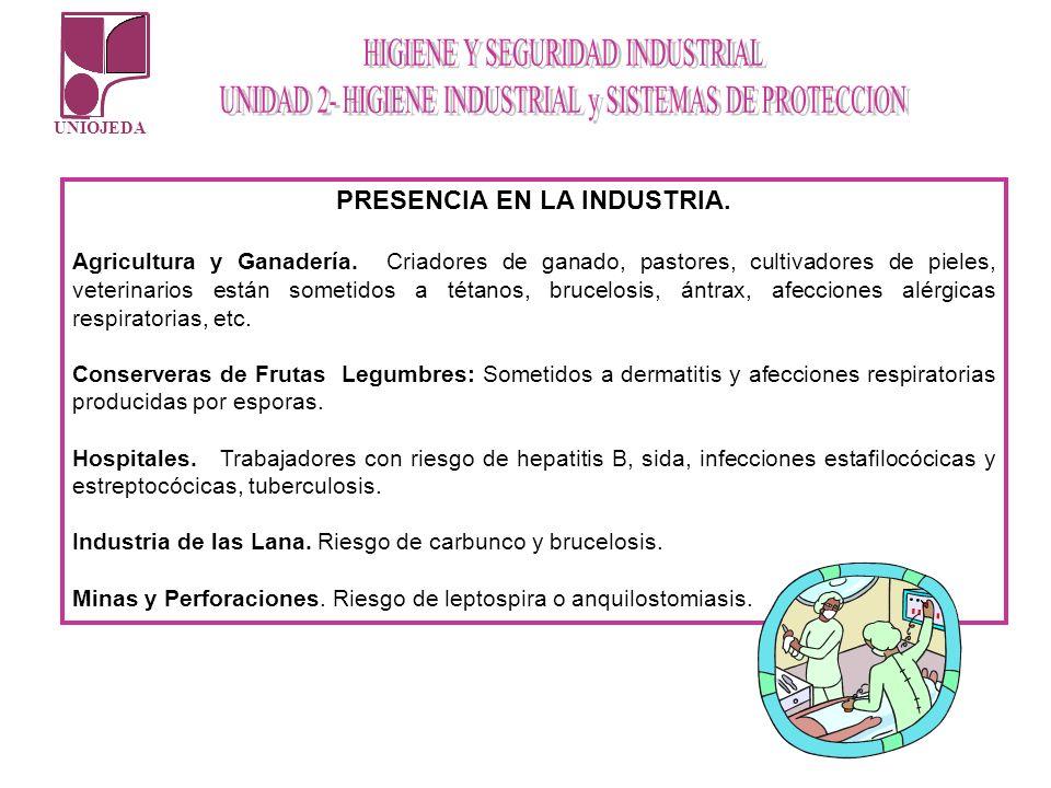 PRESENCIA EN LA INDUSTRIA.