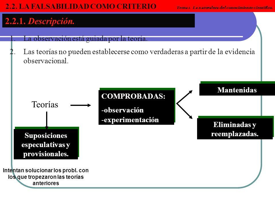 Eliminadas y reemplazadas. Suposiciones especulativas y provisionales.