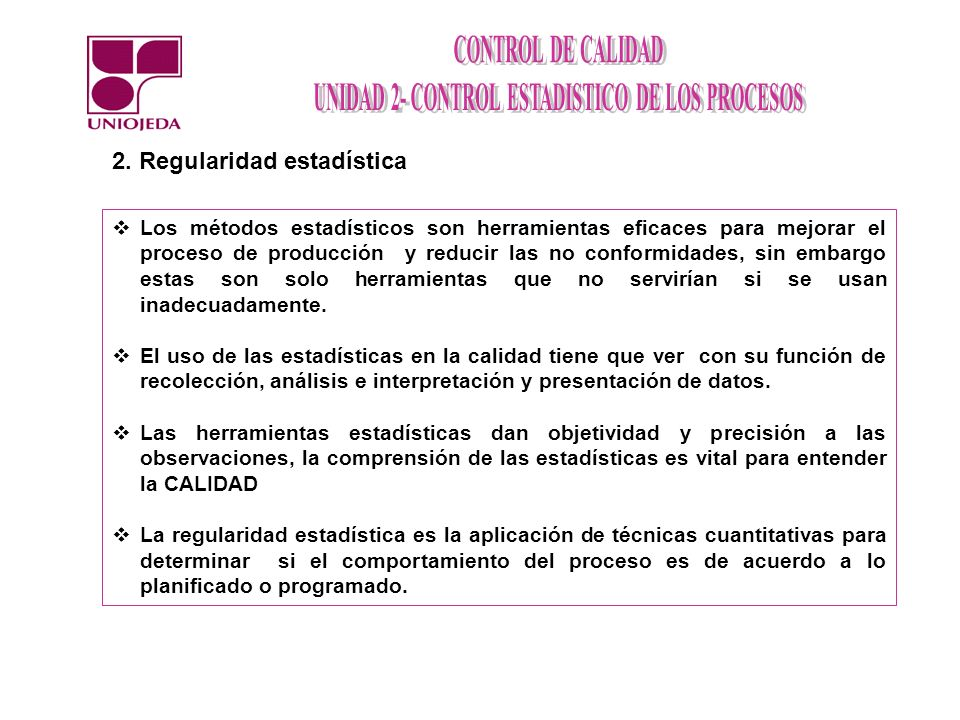 2. Regularidad estadística