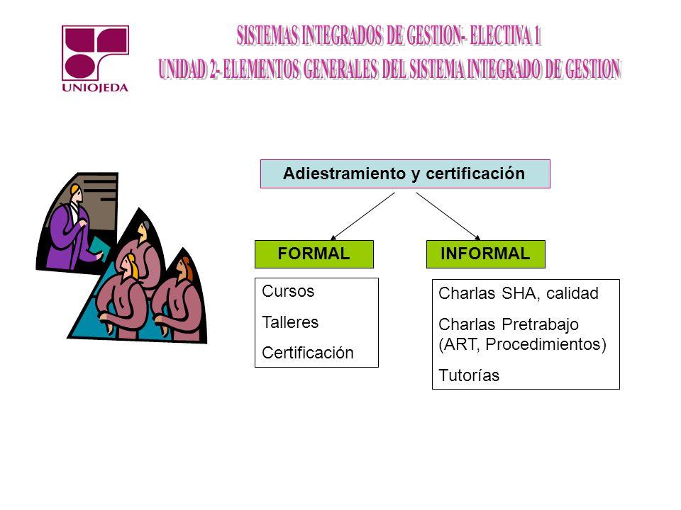 Adiestramiento y certificación