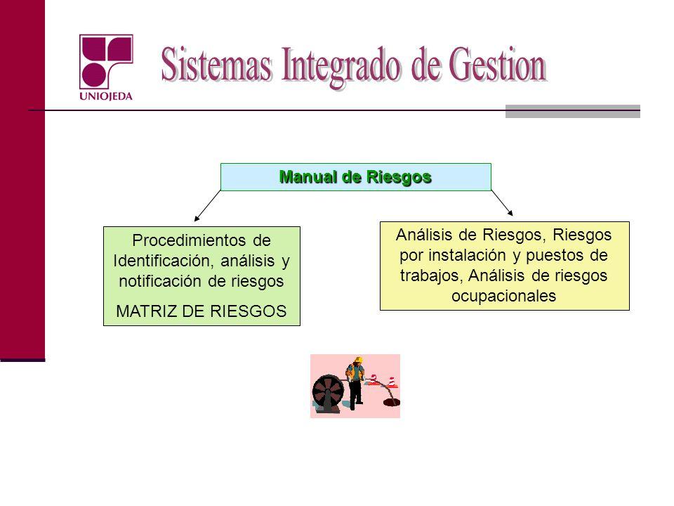 Procedimientos de Identificación, análisis y notificación de riesgos