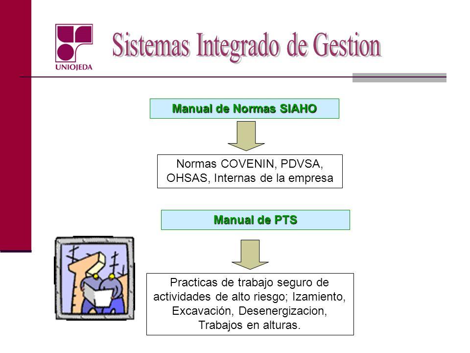 Normas COVENIN, PDVSA, OHSAS, Internas de la empresa