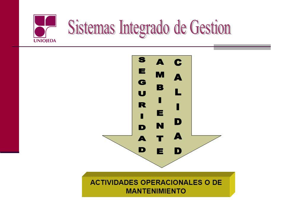 ACTIVIDADES OPERACIONALES O DE MANTENIMIENTO