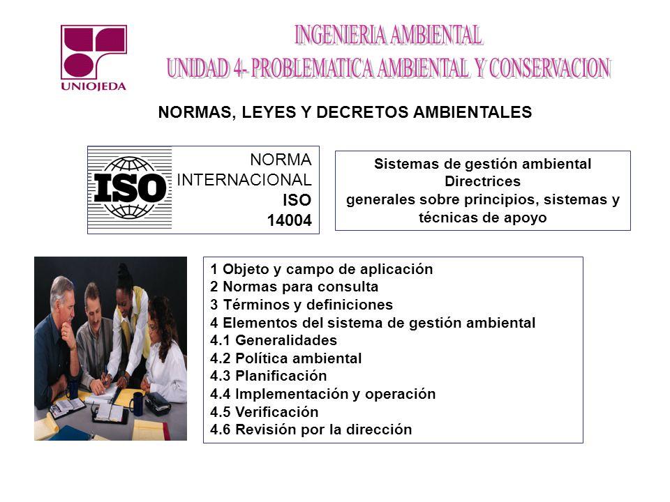 NORMAS, LEYES Y DECRETOS AMBIENTALES