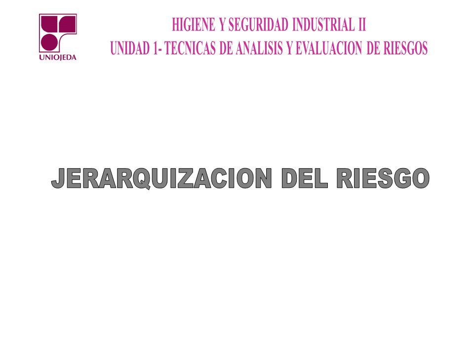 JERARQUIZACION DEL RIESGO