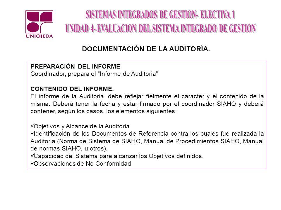 DOCUMENTACIÓN DE LA AUDITORÍA.