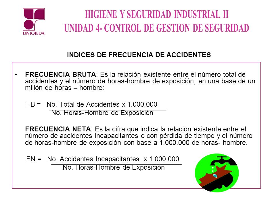 INDICES DE FRECUENCIA DE ACCIDENTES