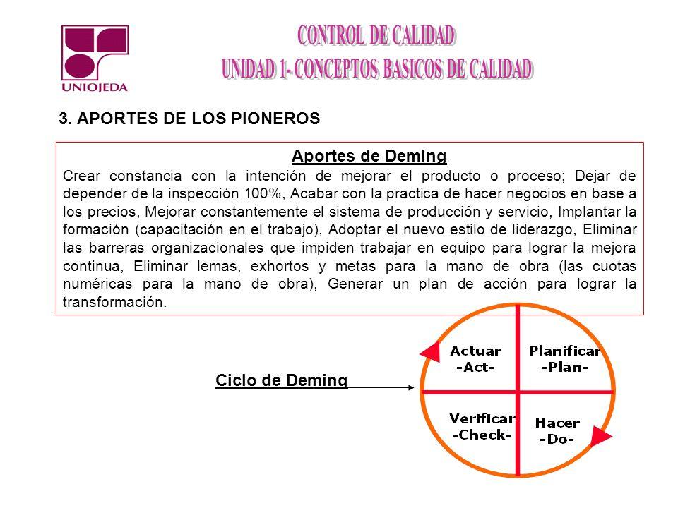 3. APORTES DE LOS PIONEROS