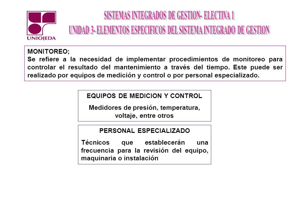 EQUIPOS DE MEDICION Y CONTROL