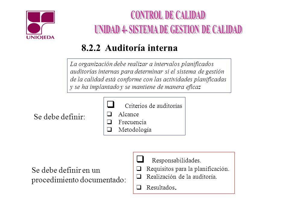 Criterios de auditorías