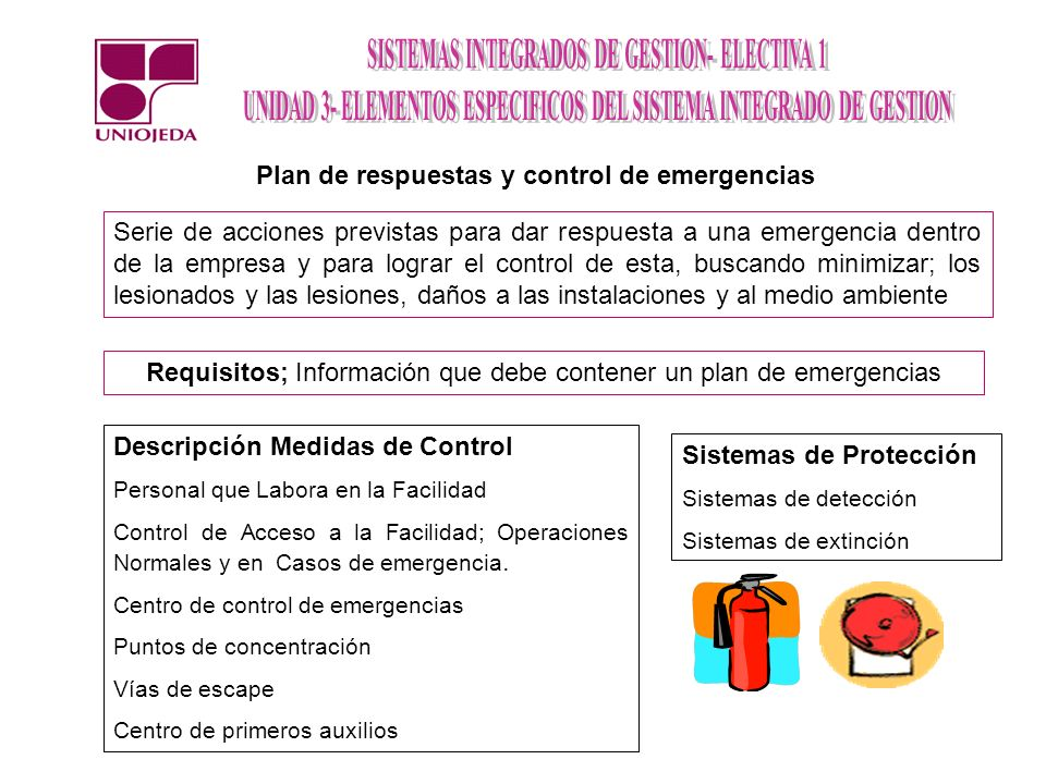 Plan de respuestas y control de emergencias