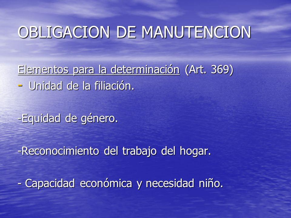 OBLIGACION DE MANUTENCION