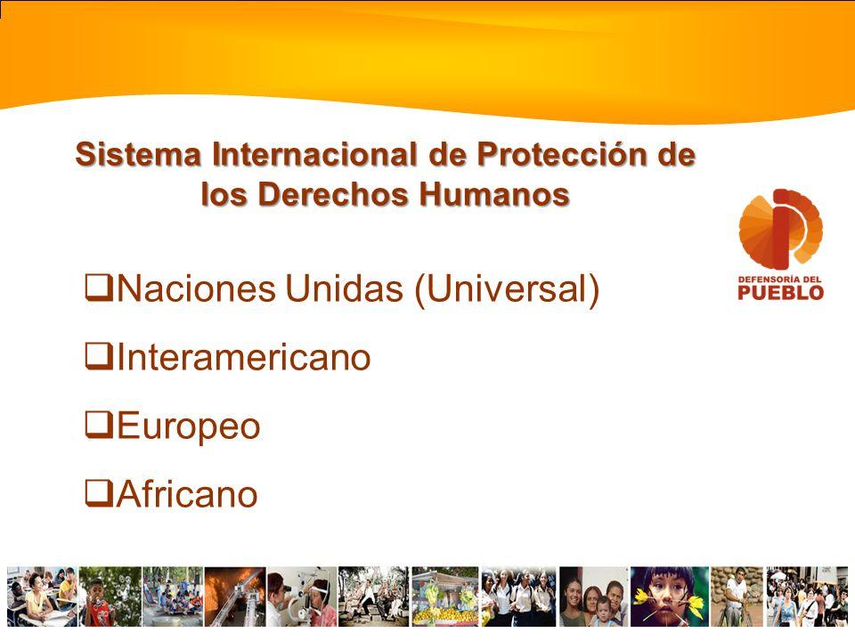 Sistema Internacional de Protección de los Derechos Humanos