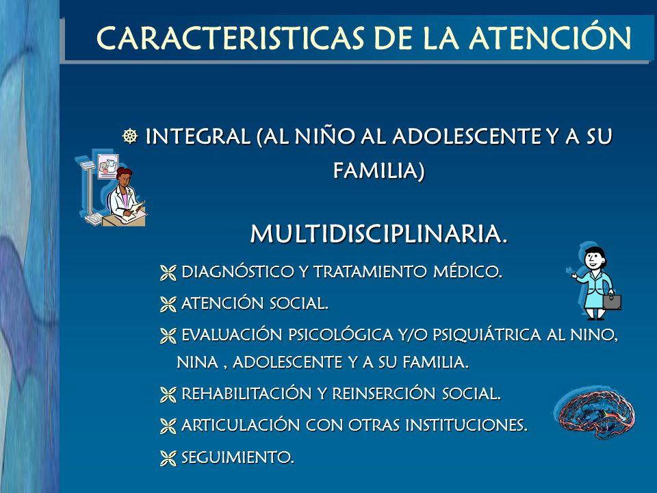 CARACTERISTICAS DE LA ATENCIÓN