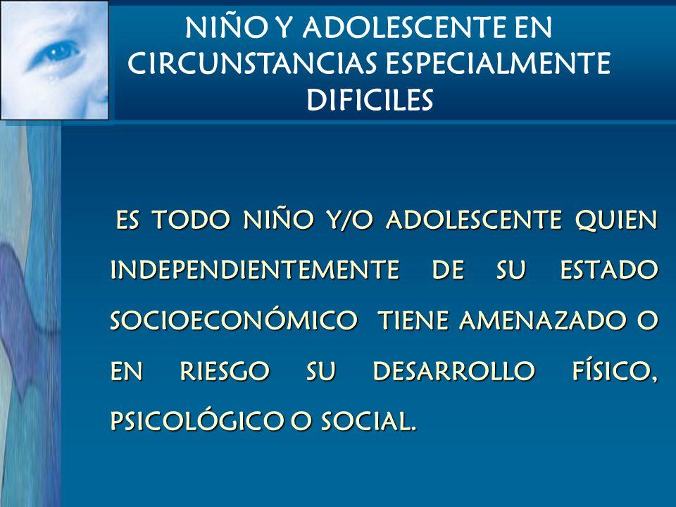NIÑO Y ADOLESCENTE EN CIRCUNSTANCIAS ESPECIALMENTE DIFICILES