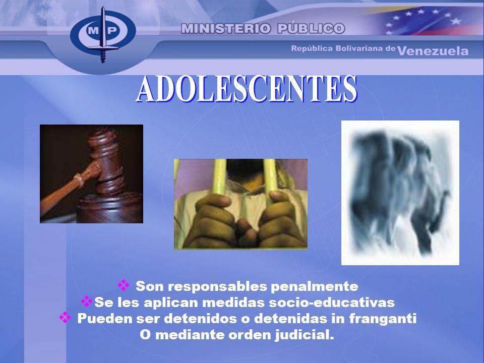 ADOLESCENTES Son responsables penalmente
