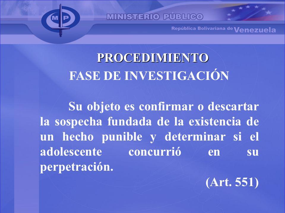 PROCEDIMIENTO FASE DE INVESTIGACIÓN.