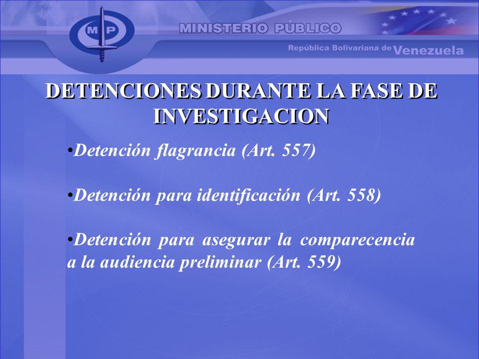 DETENCIONES DURANTE LA FASE DE INVESTIGACION