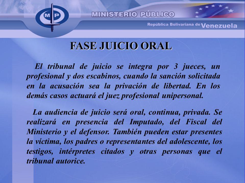 FASE JUICIO ORAL